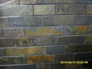 China Wall Cladding Slate-3:Stacked Slate Tiles Wall Cladding Slate Natural Slate Wall Tile on sale