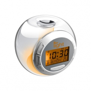 China ball shape calendar clock with sound and 7 changing color light on sale