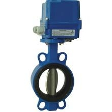 China Electric Operated Semi-lug Wafer Short Butterfly Valve on sale