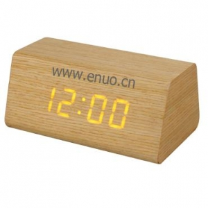 China EN1123 Wood LED Clock on sale