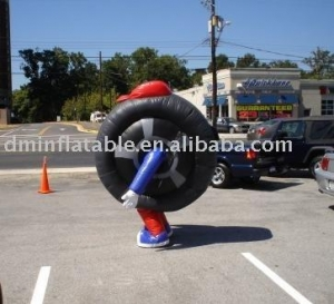 China advertisement inflatable tire on sale