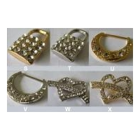 Rhinestone Buckle & Crystal Brooches