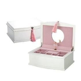 China Reed & Barton White Ballerina Musical Chest on sale