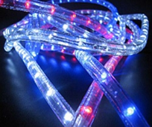 China Low voltage Rope Lights 3wires blue color on sale
