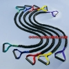 China Gym Single Resistance bands With Nylon Sleeve Model:KM025 for sale