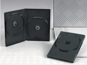 China JEWEL CD CASE 14MM DVD CASE DOUBLE BLACK on sale