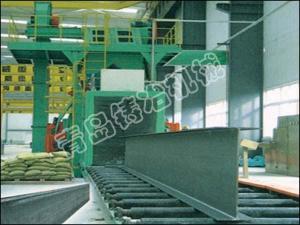 China Tunnel Type H Beam Shot Blasting Machine on sale