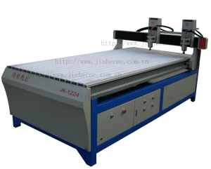 China Double-head Wood CNC Router JK-1224-2 on sale