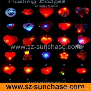 China Valentine flashing badge on sale