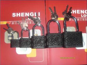 China Electrical plating iron padlock on sale