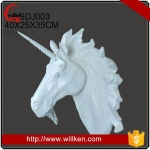 Animal Statues factory custom made high quality resin cow head