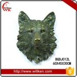 Animal Statues Wall mounted polyresin decorative artificial eagle