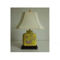 Yellow Color Lamp With wooden Basement