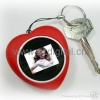 China Heart-Shaped Mini Digital Photo frame Display Keyring for sale