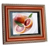 China 10.4inch red wooden digital photo frame for sale