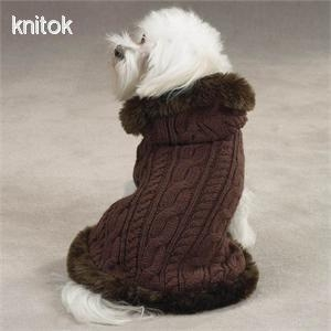 China Cabel knit dog sweater on sale