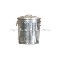 China storage bin Mini Trash Can(Galvanized with cover,3L) on sale