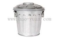 China storage bin 0.5 litre Galvanized Mini Trash Can on sale