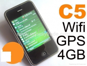 China 3g Iphone cell phone WIFI GPS windows 6.1 system java phone C5 on sale