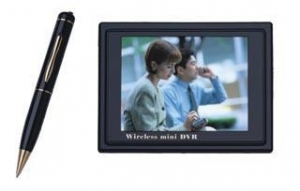 China 2.4GHz Wireless Spy Camera Pen with DVR--TE-824:small pen,mini 3.5LCD DVR,30fps on sale