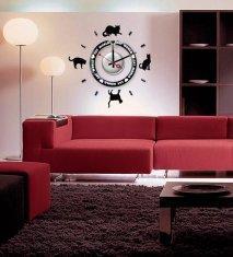 China Vinyl Wall Sticker Clock 10A012 Cats Wall Decoration on sale