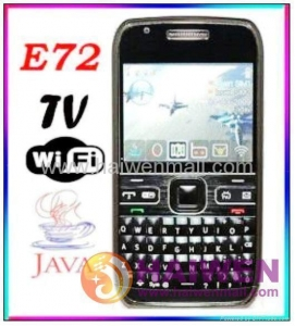 China E72 Dual SIM Touch Screen Mobile Phone With Wifi/JAVA/TV Unlocked on sale
