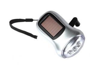 China JS 6007 solar dynamo flashlight on sale