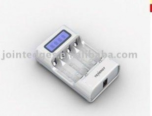 China 4 cell AA/AAA Battery Fast Charger With LCD Display on sale