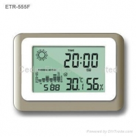 China Weather Station Clock with Barometer on sale