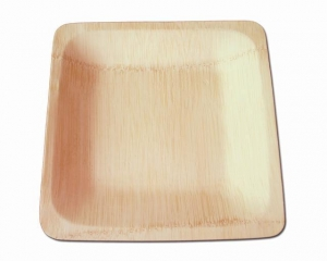 China Disposable Bamboo Square Plates on sale