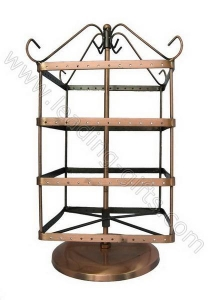 China 3 Rotating Square Shape Earring Display Stands-Antique Copper on sale