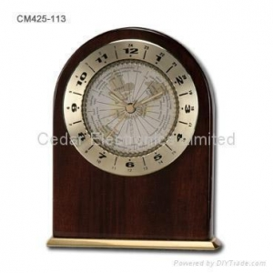 China Craft Desk World Time Clock on sale