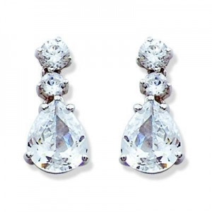 China Cubic Zirconia Earrings, silver jewelry wholesalers on sale