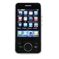 F007 Dual Sim Card Quad Band TV Flat Touch Screen Java Mobile Phone Mini black (MP038)