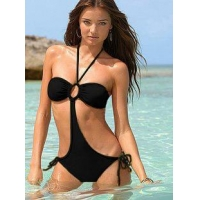 China One Piece Swimsuits Black Color on sale