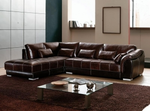 China Leather Sectional Sofas-AZMS-D08280# on sale