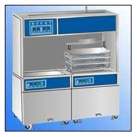 China Medical numerical control double-tank full-automatical ultrasonic cleaner on sale