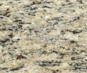 China Brazil Yellow Granite Giallo Cecilia Sink on sale