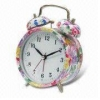 China Alarm clock with Flower Design Printing, OEM Orders Welcome for sale