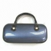 China Metal Eyeglass Case with PU and PVC Covers, Available in Gray for sale