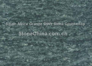 China South Africa Granite Olive Siena Countertop on sale