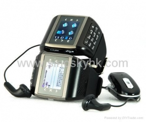 China Quad-band Dual SIMcard pinhole camera watch mobile phone cellphone keypad on sale
