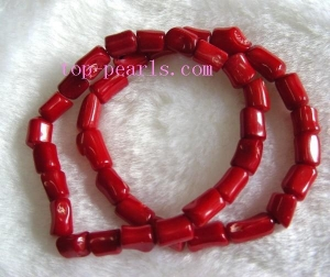 China Wonderful 7.5inch 10mm red coral bracelet on sale