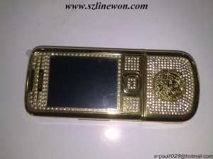 China CECT NOKIA 8800 Versace Gold Diamond on sale