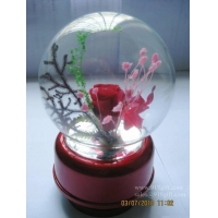 Manufacture music box with preserved flower