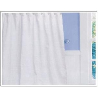 Ivory Waffle Weave Shower Curtain SD0008