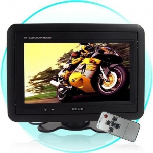China Headrest/Stand In-Car TFT LCD Monitor, 7 inches -Black on sale