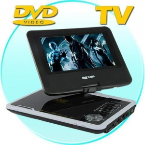 China 7 Inch Portable DVD Player with Swivel Screen + Analog TV on sale