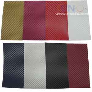 China Colored 3D carbon fiber sticker on sale