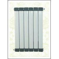 Cu & Al composite radiator with Al-fin